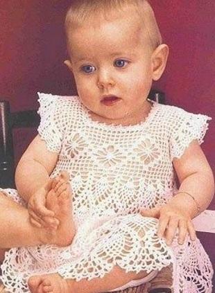 Платье для малышки крючком