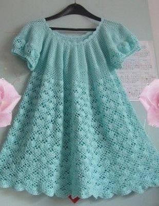 Узоры для детского платья крючком