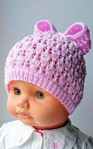 Детская шапка спицами 2018