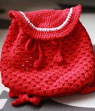 Детский рюкзак крючком