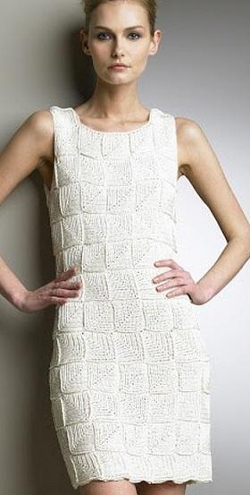 Платье из квадратных мотивов