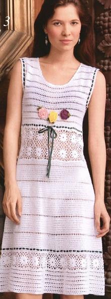 Вязание крючком - платье