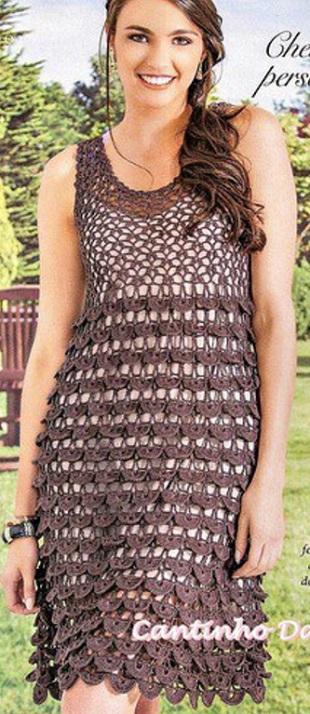 Связать кружевное платье