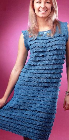 Модель платья крючком
