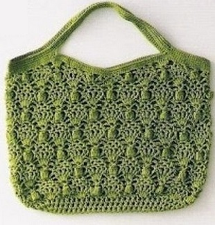 Ажурная сумочка крючком