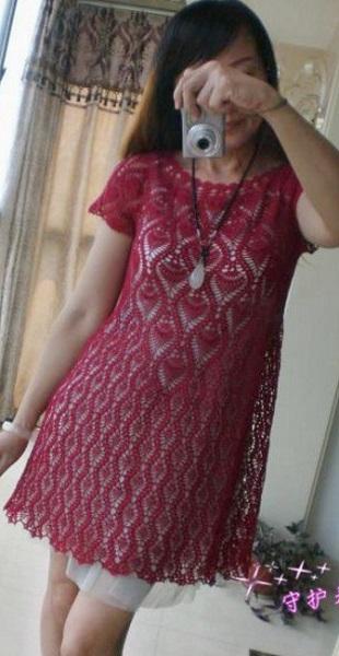 Вязание платья-туники