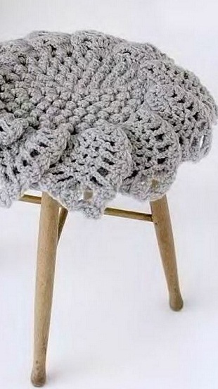 Вязание круглого коврика крючком