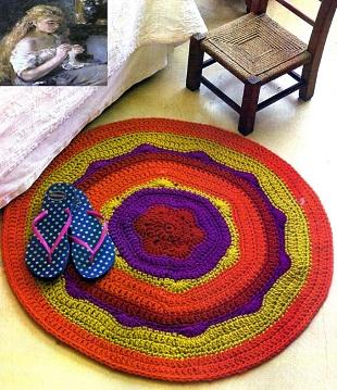 Связать круглый коврик