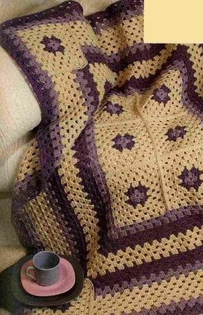 Вязание крючком - плед