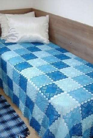 Вязание пледа бабушкин квадрат
