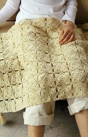 Вязание детского пледа