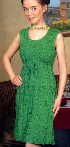 Платье спица схемы | мода и стиль | Платье