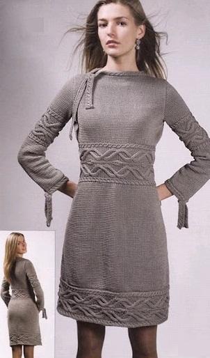 Схема вязания платья спицами | 9 (302x514, 108Kb