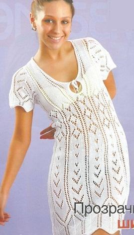 Летнее вязаное платье | letnee-vasanoe-platie