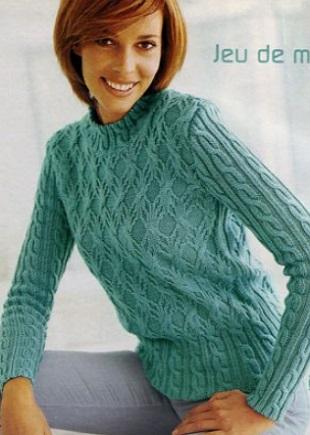 Пуловер спицами 2019
