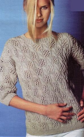 Как связать пуловер
