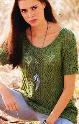Ажурный пуловер схема