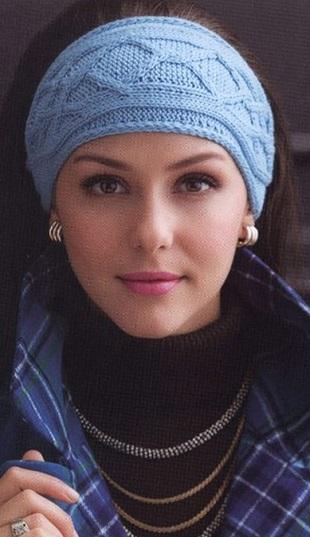 Вязание повязки на голову