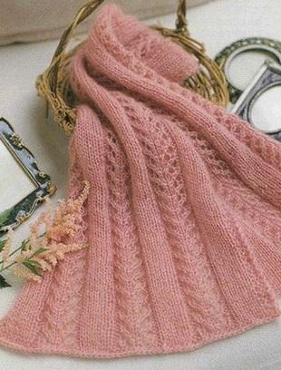 простое вязание шарфов