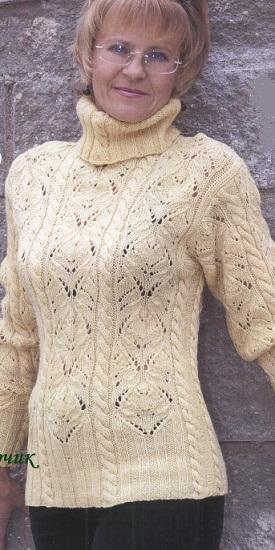 Связать свитер спицами