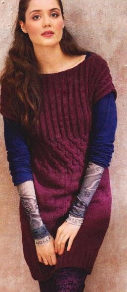 Вязание туники спицами