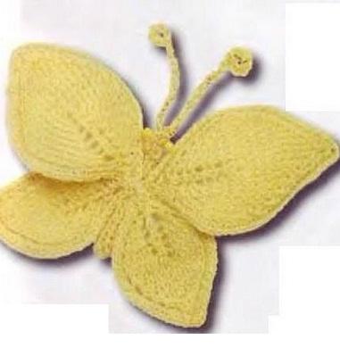 Узор Бабочка спицами