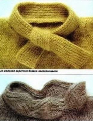 Обработка горловины спицами