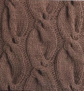 Узор вязания с шишечками 2